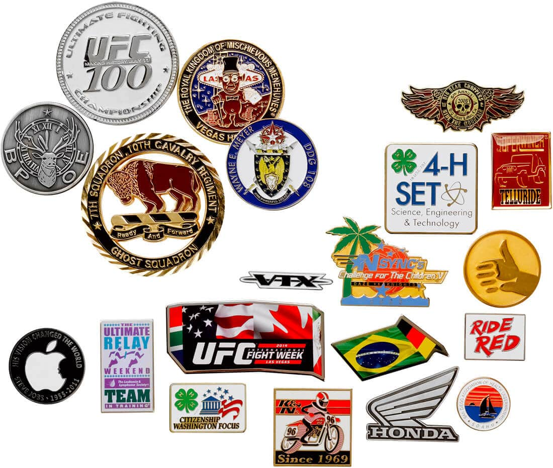 custom made lapel pins and coins
