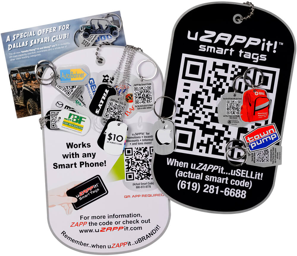 custom uZAPPit smart tags